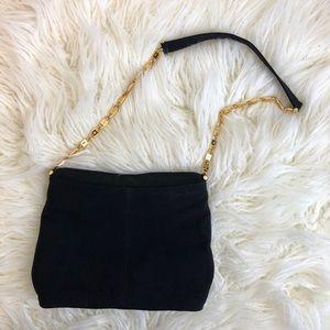 Vintage PALOMA PICASSO Italian black gold purse X